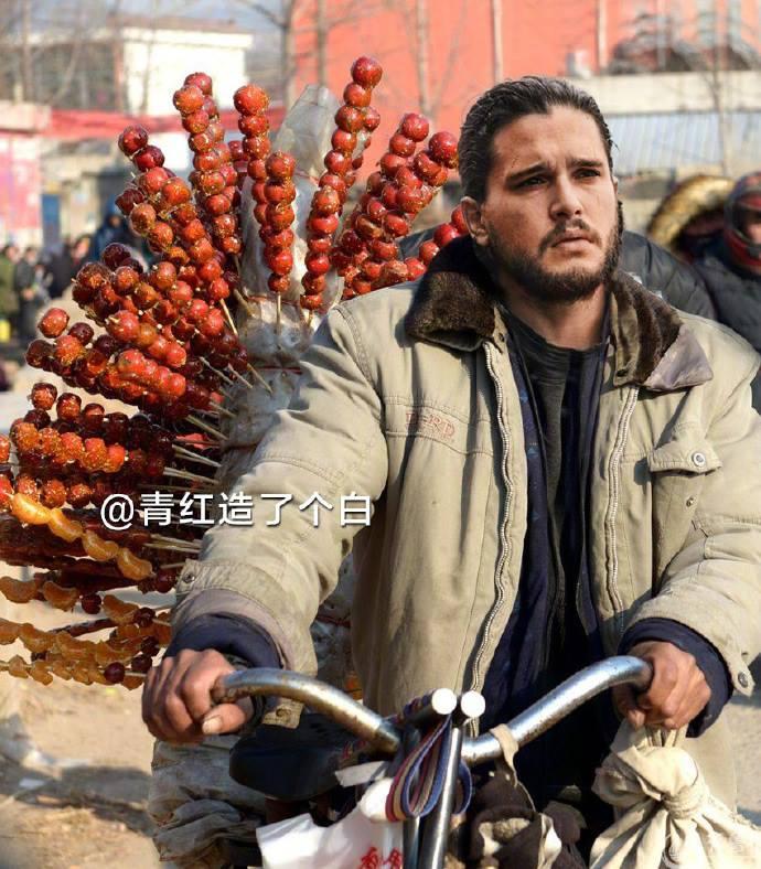 """Когато Актьорите от """"Игра на тронове"""" Станат Китайски Улични Търговци 33"""