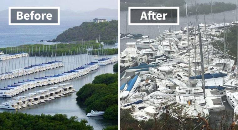 Потресаващи Снимки, Които Разкриват Колко Ужасен Е Наистина Урагана Ирма 12