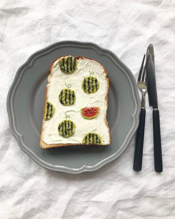 Японски Кулинарен Дизайнер Превръща Сутрешния Си Тост В Произведение На Изкуството 54