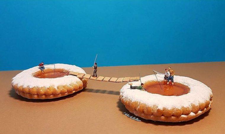 Уникално! Италиански Готвач Създава Миниатюрни Светове С Десерти 54