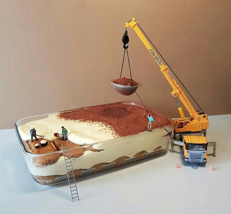 Уникално! Италиански Готвач Създава Миниатюрни Светове С Десерти 56