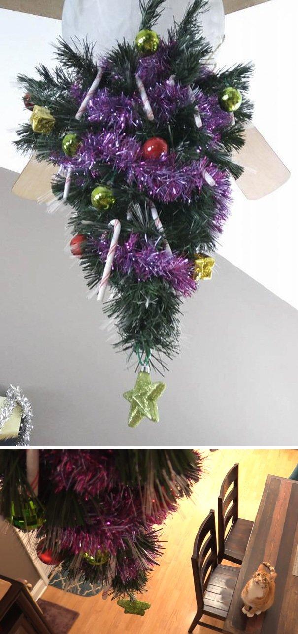 Коледа идва.. Гениални идеи как да опазиш коледната елха от децата и домашните любимци.. 38