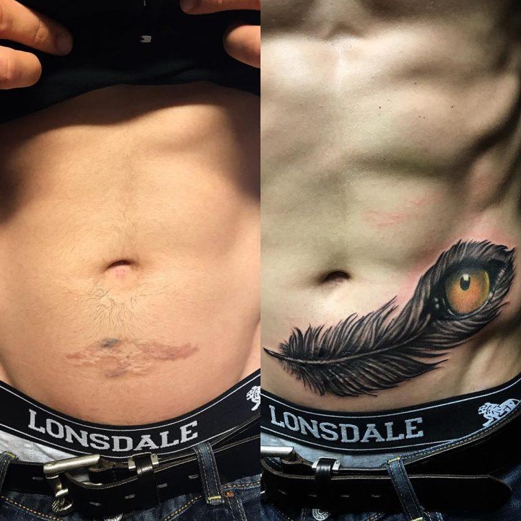 Тези татуировки, превърнаха белезите в произведения на изкуството 57
