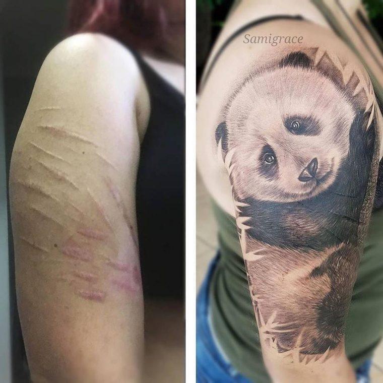 Тези татуировки, превърнаха белезите в произведения на изкуството 55