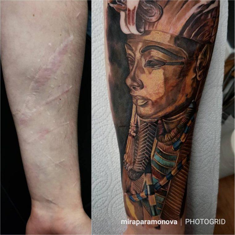 Тези татуировки, превърнаха белезите в произведения на изкуството 54