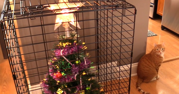 Коледа идва.. Гениални идеи как да опазиш коледната елха от децата и домашните любимци.. 33