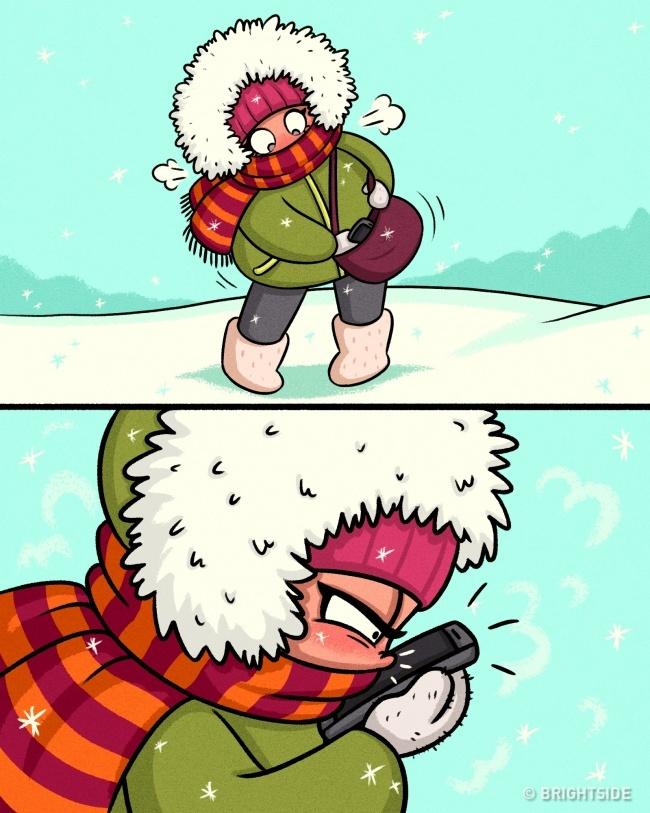 15 Забавни комикси, които показват трудния живот на жените през зимата 57
