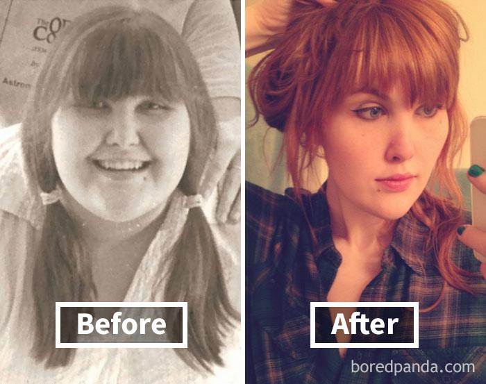 Брутална промяна! Те споделиха как са изглеждали преди и след като са отслабнали.. шокиращо 8