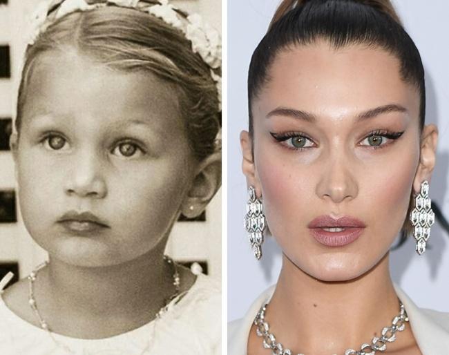 Ген или пластична хирургия? 12 снимки на известни личности, които са били красавици от детството 57