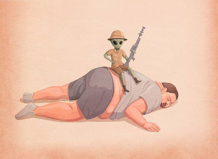 18 Илюстрации изобразяващи пороците на съвременното общество! 10