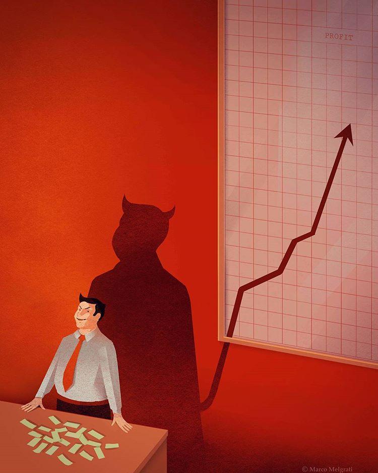 18 Илюстрации изобразяващи пороците на съвременното общество! 9