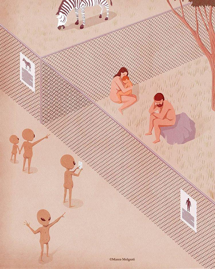 18 Илюстрации изобразяващи пороците на съвременното общество! 8