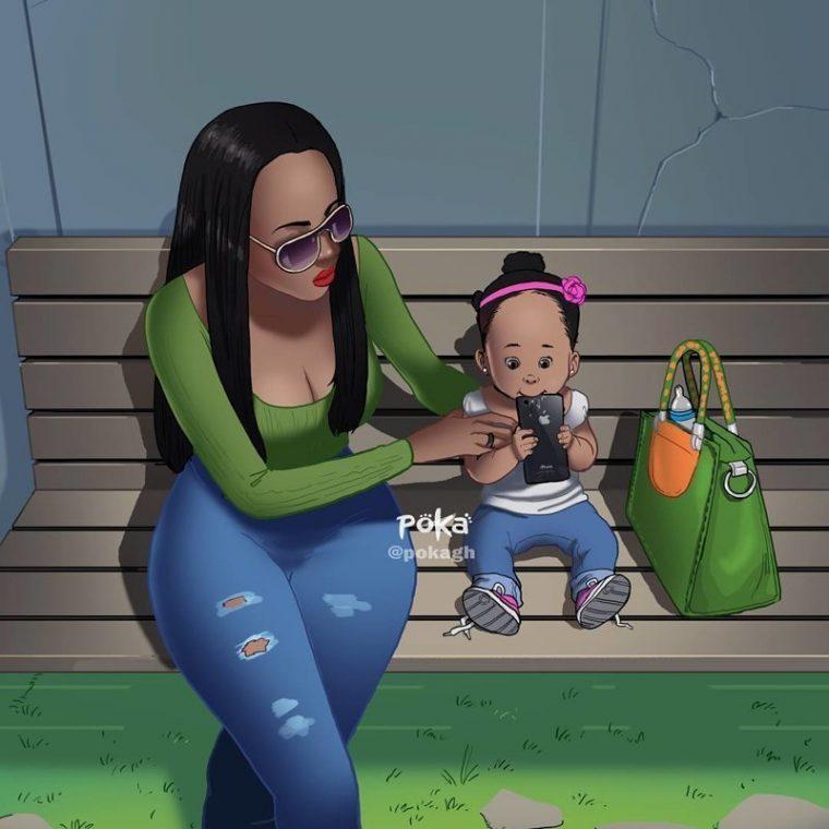 Художник изобразява реални епизоди от семейния живот.. Уникално! 36
