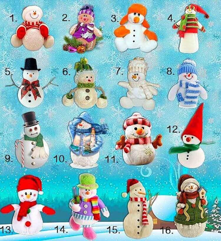 Избери си един от 16-те снежни човека и разбери каква зима те очаква! 8