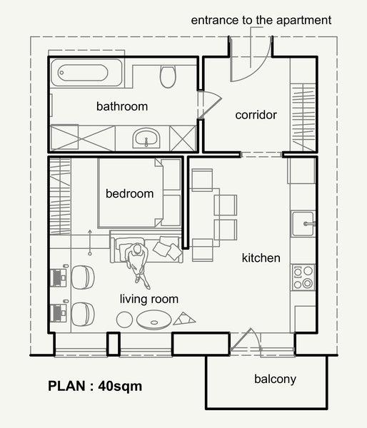 Как превърнаха 40 м² апартамент в 4 стаен луксозен апартамент (СНИМКИ) 34