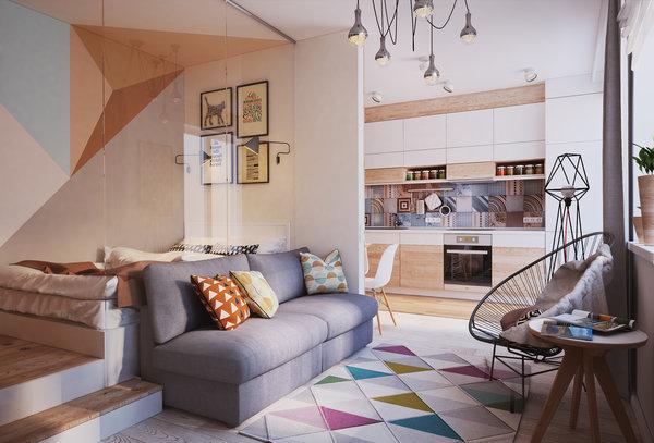 Как превърнаха 40 м² апартамент в 4 стаен луксозен апартамент (СНИМКИ) 38