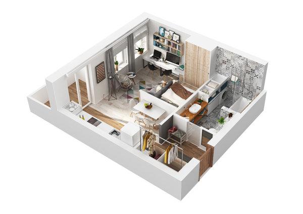Как превърнаха 40 м² апартамент в 4 стаен луксозен апартамент (СНИМКИ) 33