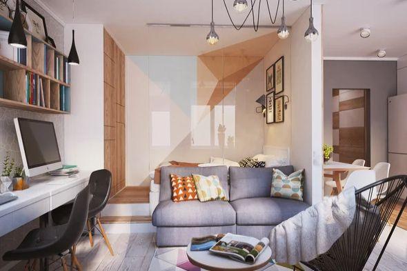 Как превърнаха 40 м² апартамент в 4 стаен луксозен апартамент (СНИМКИ) 36