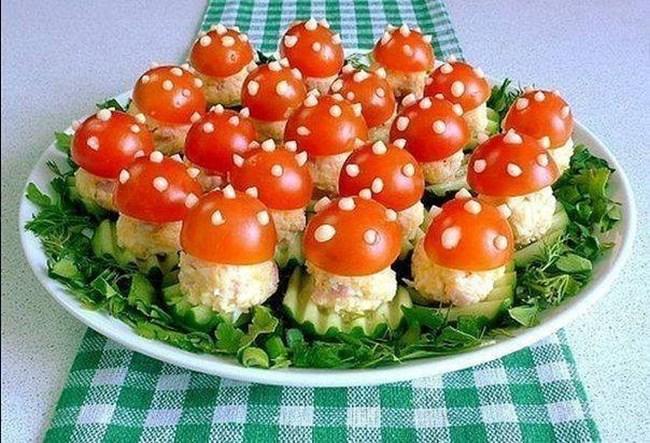 Идеи за декорация на ястията за празнична трапеза 54