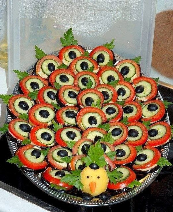 Идеи за декорация на ястията за празнична трапеза 68