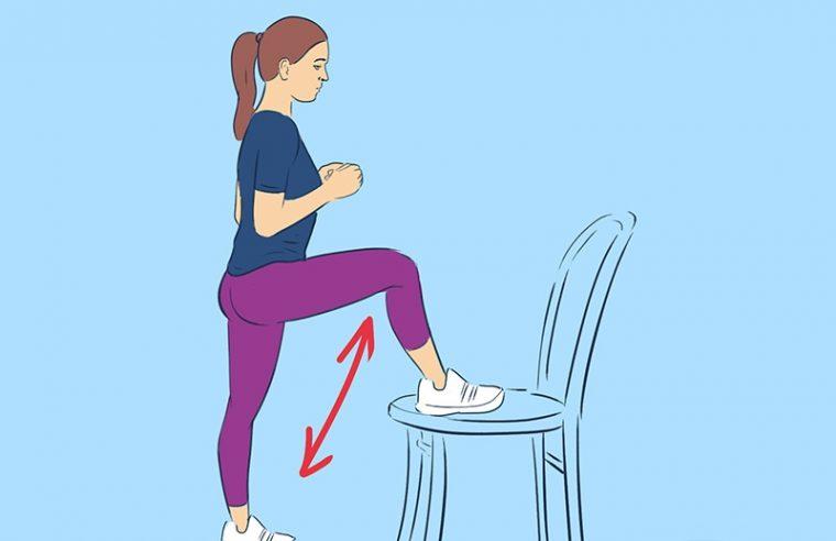 Упражнения за бедрата в домашни условия със стол, намалете обиколката им по най- лесния начин 12