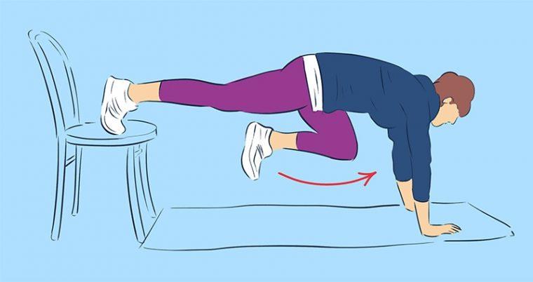 Упражнения за бедрата в домашни условия със стол, намалете обиколката им по най- лесния начин 57