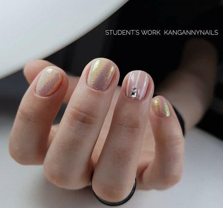 Най-модерните пролетни маникюри за къси нокти през 2019 65