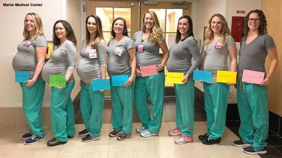 Девет медицински сестри в една болница забременяха по едно и също време 54
