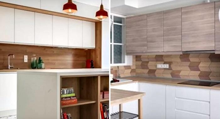 15 Страхони идеи на употребата на ламинат за различни места у дома (СНИМКИ) 60