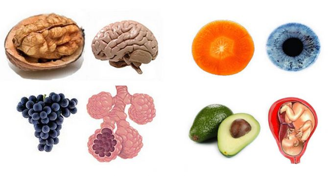 Храните, които приличат на частите на тялото, те са най-полезни съоветно за тях 10