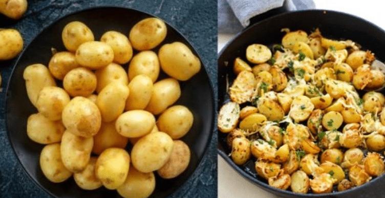 Пресните картофи , които не е нужно да ги белите, слагате им малко подправки и стават чудни 14