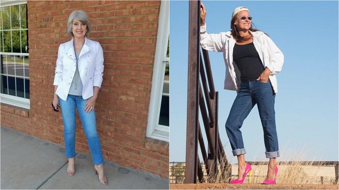 Златни правила за носене на дънки за дами над 40 59