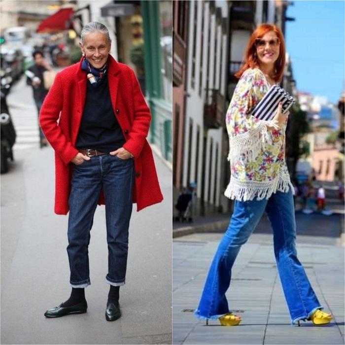 Златни правила за носене на дънки за дами над 40 60