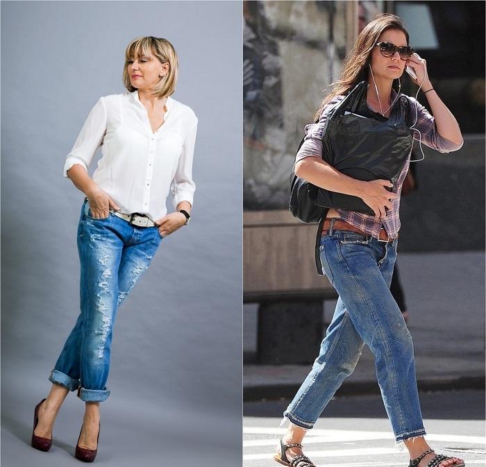 Златни правила за носене на дънки за дами над 40 61