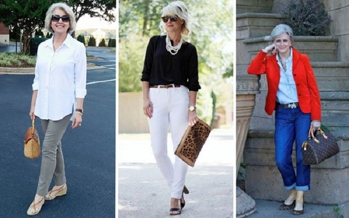 Златни правила за носене на дънки за дами над 40 62