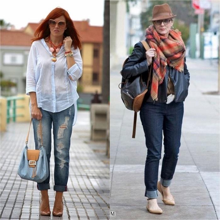 Златни правила за носене на дънки за дами над 40 63