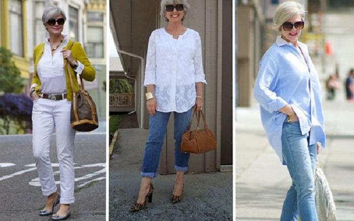 Златни правила за носене на дънки за дами над 40 64