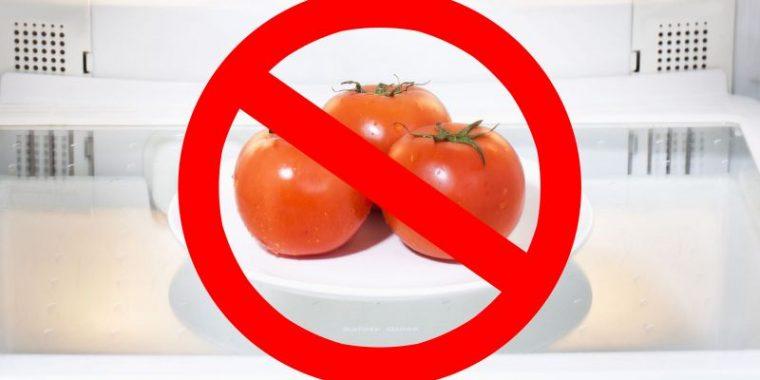 Не e полезно да се съхраняват домати в хладилник 54