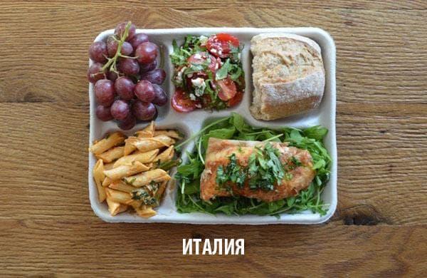 Как изглежда училищният обяд в различните държави 53