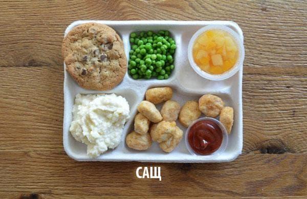 Как изглежда училищният обяд в различните държави 56