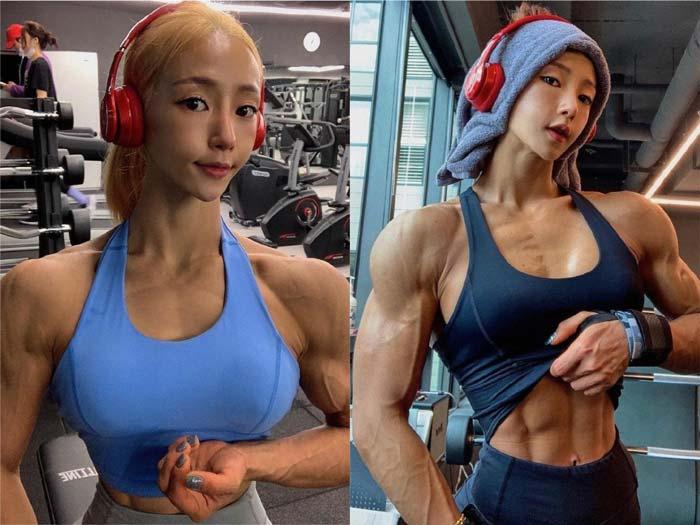фитнес-азиатка