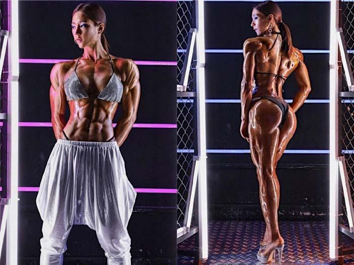 азиатка-фитнес-тяло